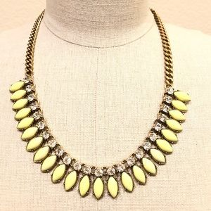 J. CREW yellow resin and crystal necklace 🌞